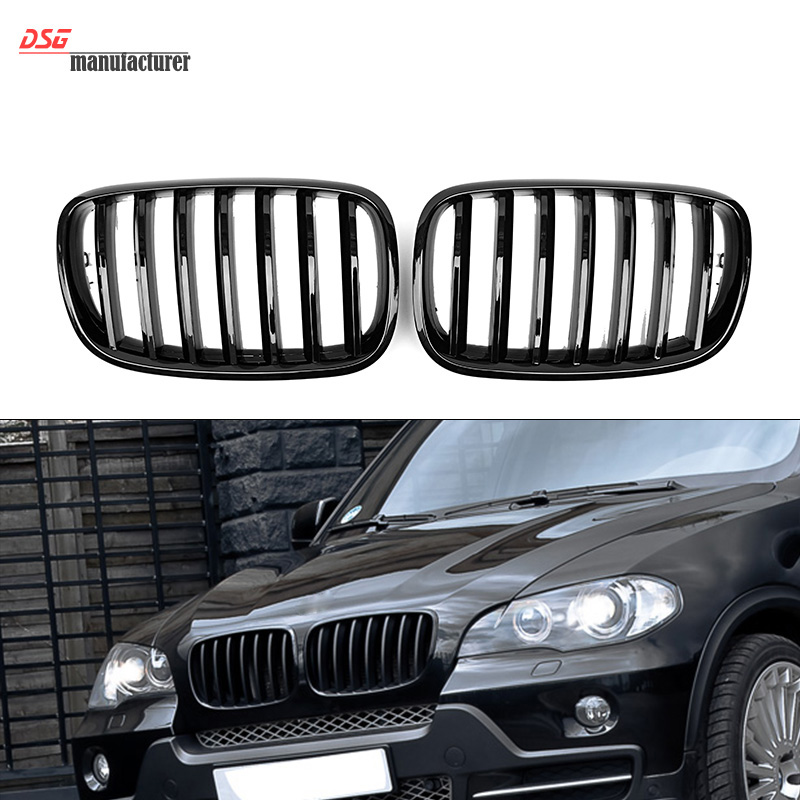 X5 E70 Front Kidney Bumper Grill For BMW X Series 2007 to 2013 E71 X6 ABS Hood Grille Made In Taiwan Great Fitment High Quality 2007 2013 kidney shape matte black abs plastic e70 e71 original style x5 x6 front racing grill grille for bmw e70 x5 bmw x6