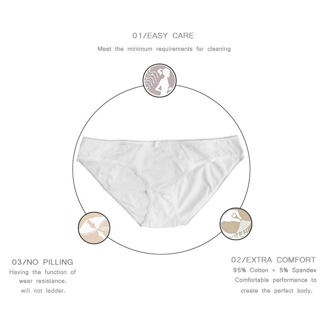 Low-Rise Cotton Briefs Solid Color 95% Cotton + 5% Spandex