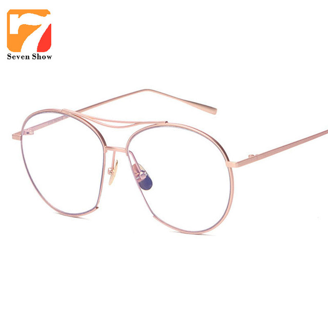 39edb20c0e8dc1 Rose Goud Brillen Metalen Frame Clear Bril Mannen Vrouwen Vintage Mode  Brilmonturen Retro Brillen Lunettes Óculos