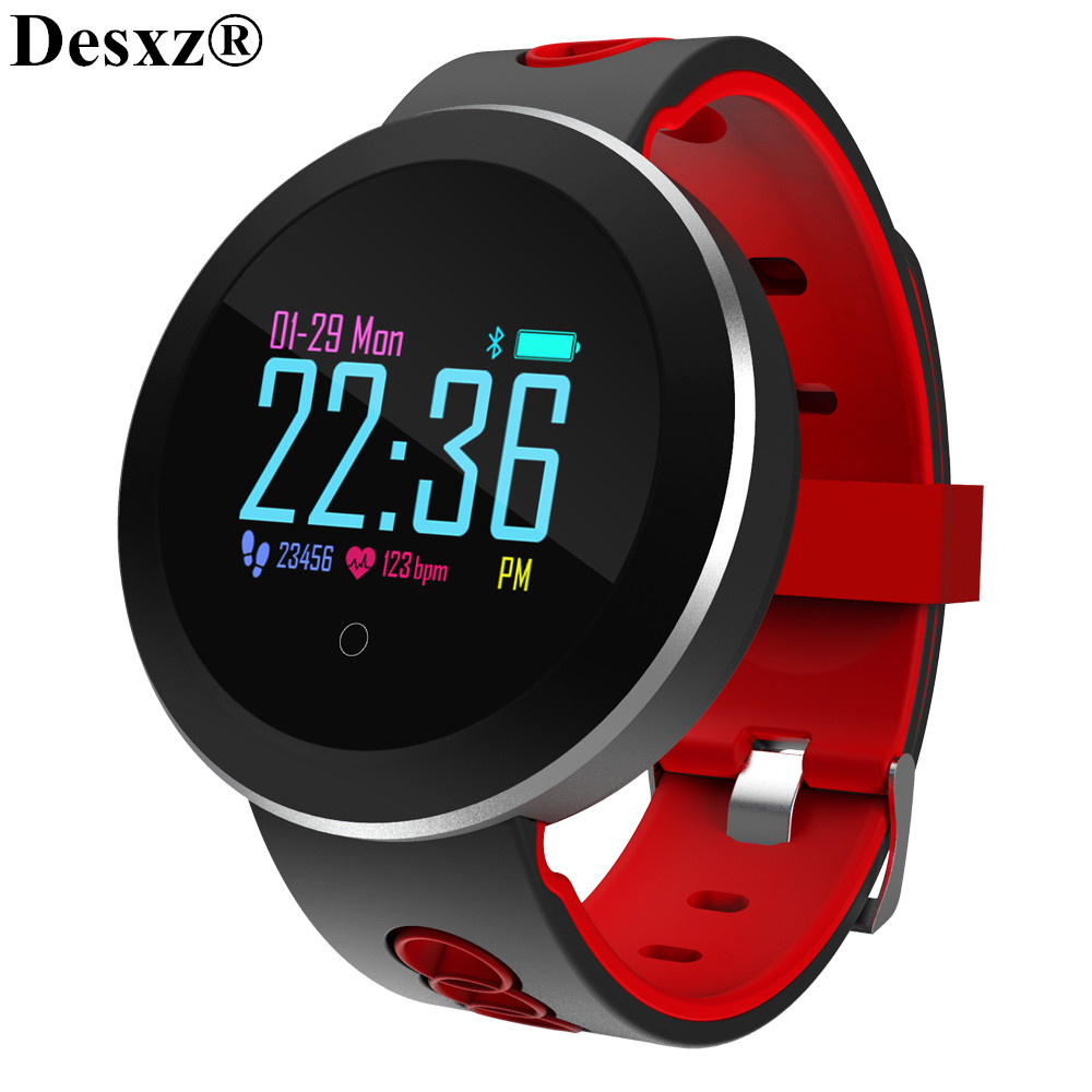 Desxz Smartwatch Wristband Blood Pressure Heart Rate Monitor Sport Smart Watch Health Tracker IP68 Waterproof for Men Women kids