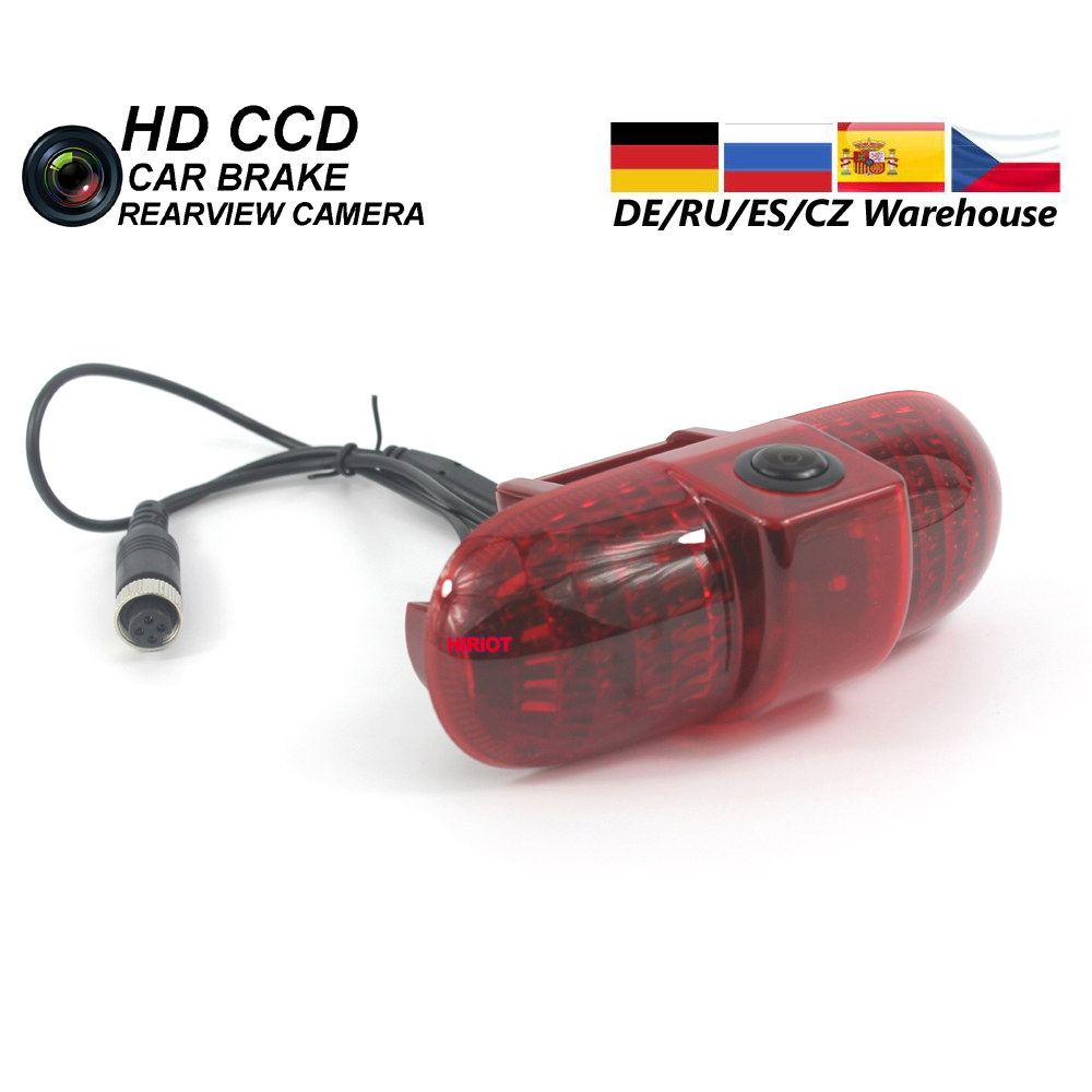 Car Brake LED Light Reverse Parking Camera For OPEL VAUXHALL VIVARO TRAFIC COMBO Stop Light Rear View Backup Camera AirPin CCD