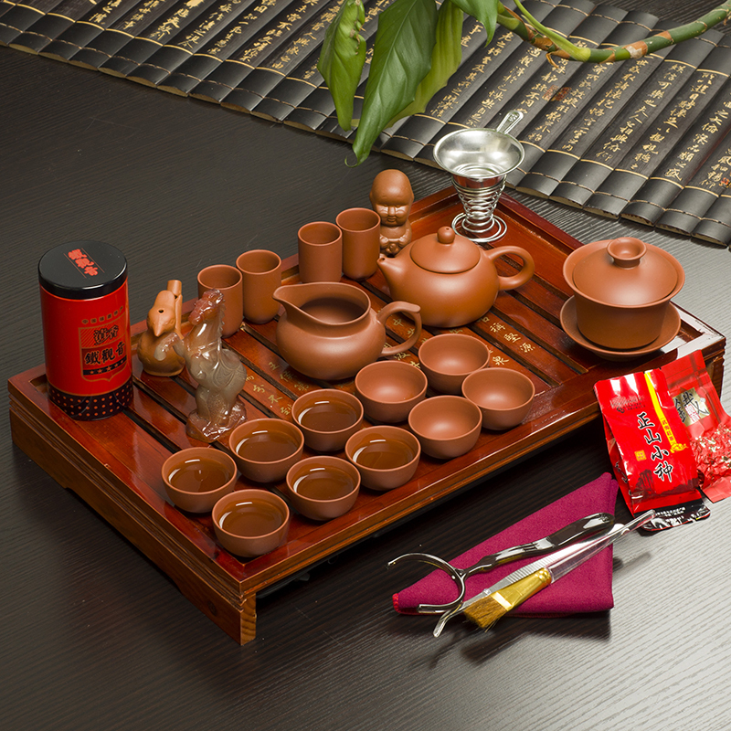 Kitchen Kettle Village Coupons: Free Shipping Drinkware KungFu Tea Set Wood Tea Tray,32
