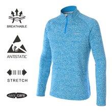 EAGEGOF 1/4 на молнии мужская рубашка для гольфа с длинными рукавами Мужская теннисная/Гольф тренировочная спортивная одежда Открытый Повседневный пуловер дышащая одежда