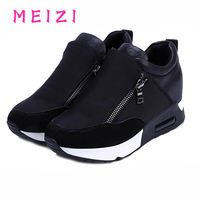 Zipper Women Casual Outdoor Shoes Increased Waterproof Platform High To Help Muffin With 2016 New Fashion