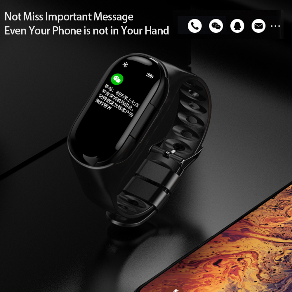 Fentorn M1 Newest Heart Rate Monitor Smart Watch With Bluetooth Earphone Fitness Tracker Blood Pressure Smartwatch For Men/Women