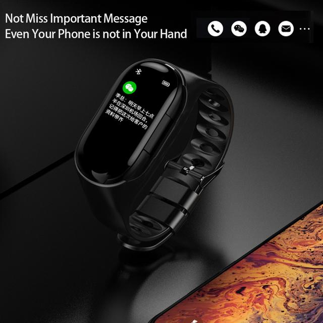 Heart Rate Monitor Women Smart Watch Men With Bluetooth Earphone Fitness Tracker Blood Pressure Smartwatch IOS