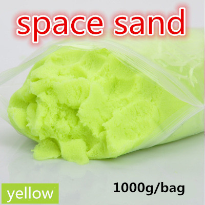 1bag 1000g/bag Safe non-toxic non stick space magic sand for cultivate children's imagination and teamwork ability free shippin 1000g dynamic amazing diy educational toy no mess indoor magic play sand children toys mars space sand