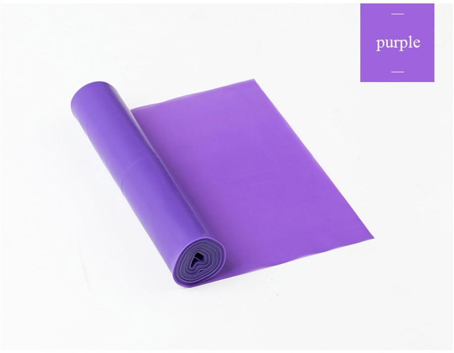 Fitness Elastic Band Indoor Pilates Rubber Resistance Bands Yoga Ribbon (8)