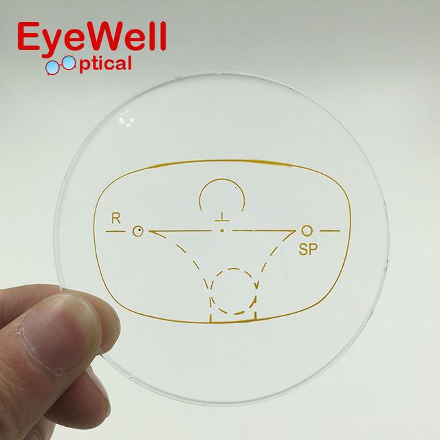 1.56 Lentes Multifocales Progresivas Estándar Gafas para La Miopía y La Presbicia Lente Óptica Lente Personalizado ver Lejos Cerca