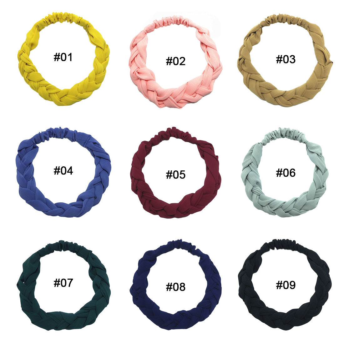 Women Fashion Hair Bands Accessories Trendy Hairband For Elastic Sets Braid Twist hair band