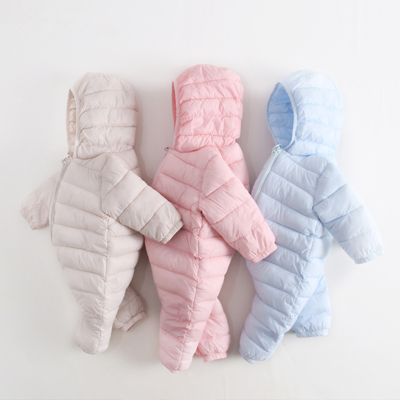 Newborn Girls Rompers Infant Baby Boys Jumpsuit  Clothes Toddler Down Jacket Romper Clothing Nylon-padded Overalls Warm Winter 2016 new newborn baby boys girls clothes rompers cotton tracksuit boys girls jumpsuit bebes infant long sleeve clothing overalls