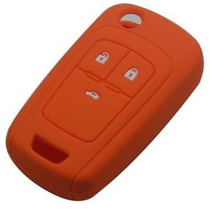 Image 4 - Jingyuqin מרחוק סיליקון רכב מפתח Case כיסוי עבור שברולט Cruze מחזיק 3 כפתורי גומי Flip מתקפל מפתח מגן