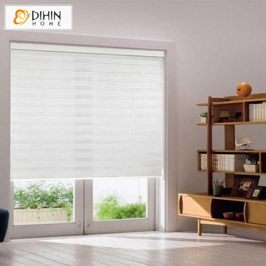 Canada Customize 100% Polyester Translucent Roller Blind Zebra Blinds Curtain White Window shade Curtains for Living Room