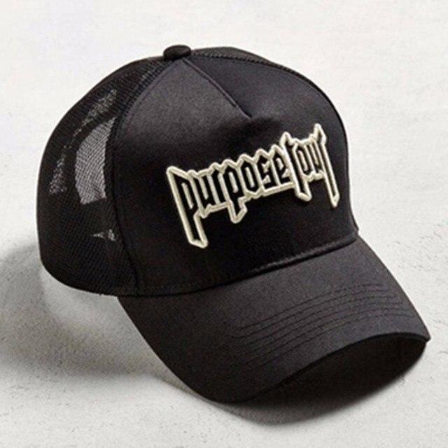 2017 New purpose Tour gorra bordada retro Justin Bieber sombrero calle Dark  TIDE sombreros para mujeres b35b88654a2