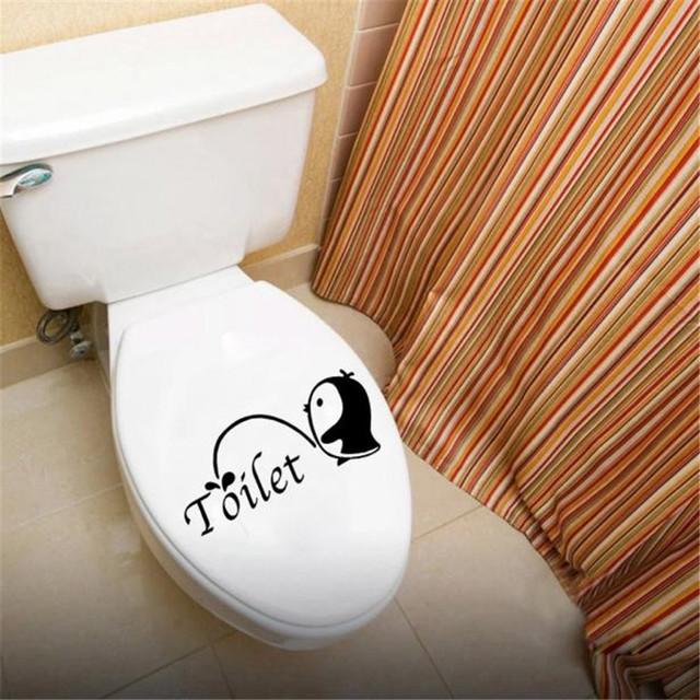 Pinguin Sticker For Toilet