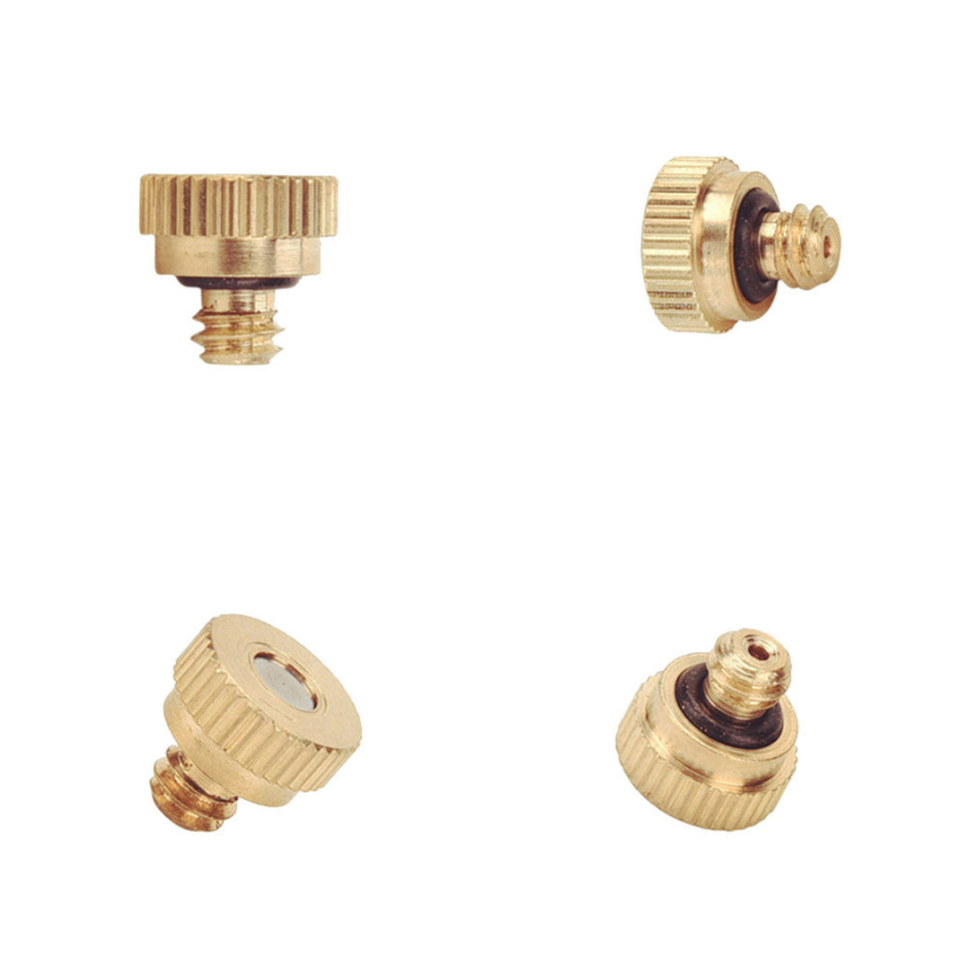 Watering & Irrigation E027 New 20pcs Brass Misting Nozzles For Cooling System With Stainless Steel Orifice 0.4mm Garden