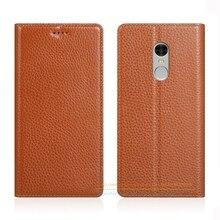 Невидимый магнит натуральная кожа чехол для Xiaomi Redmi Note 4 5.5 «Роскошный телефон раскладной стенд коровьей кожи