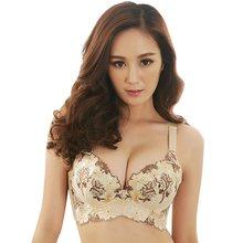 c8f5438c0 Novo estilo de moda bordado push up bra tamanho grande roupa interior  feminina copo fino sutiã bralette lingerie bras para as mu.