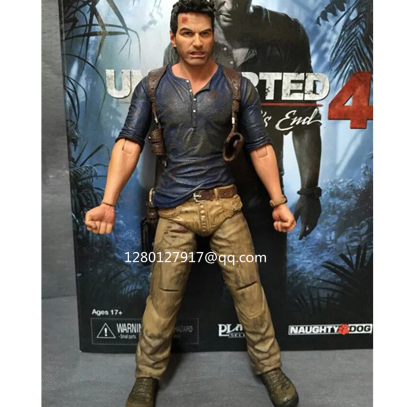 """NECA Uncharted 4 A thief/'s end NATHAN DRAKE 7/"""" Action Figure Collectible Model"""