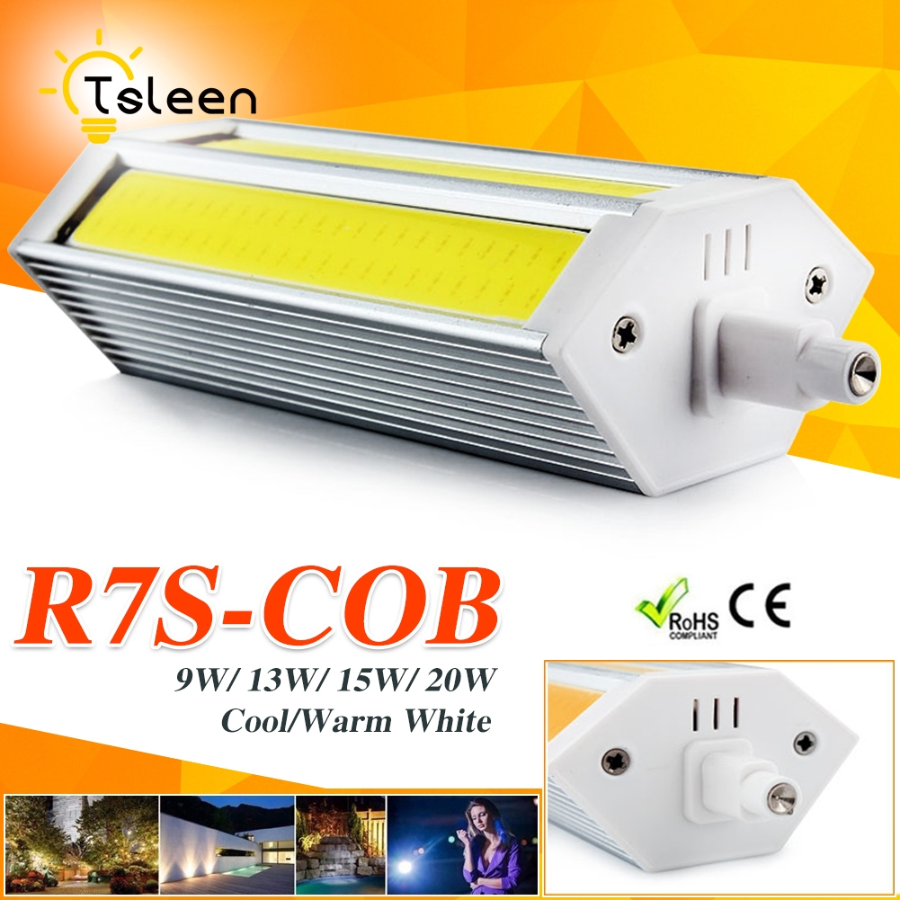 220v r7s led lamp 78mm 118mm 135mm 189mm 9w 13w 15w 20w cob led bulb replace halogen light for. Black Bedroom Furniture Sets. Home Design Ideas