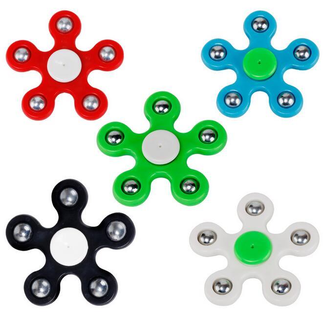 Funny Fidget Spinner Hand Spinner EDC Finger Spinner Pentagon Steel Ball Relieve Child Stress Handspinner Fidget Toy 200pcs