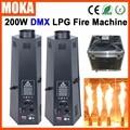 2 unids/lote 200 W máquina de llama de GLP flightcase embalaje de escenario efecto máquina dmx proyector de fuego