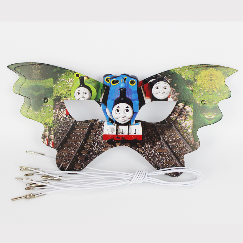 12pcs Thomas and his friends Cartoon Pattern Theme Party Mask kids Birthday Party Decorations Christmas Eye Cover Party Supplies