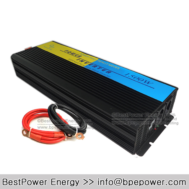 HOT SALE!! 1500 Watt Pure Sine Wave Power Inverter,1500W Wind Solar Inverters,DC12V/24V/48V to AC110V/220V Off Grid Inverter