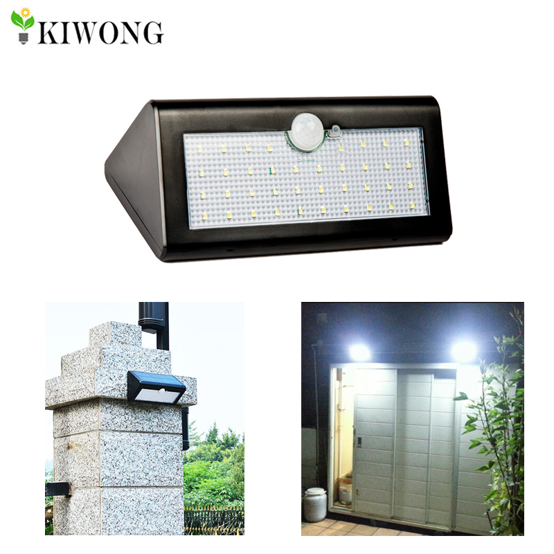 Pir Solar Powered Outdoor Motion Sensor Security 38led