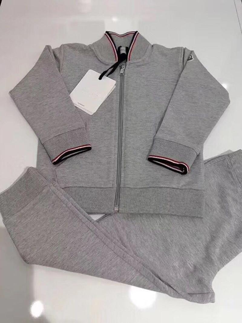 Малыш Комплекты одежды для мальчиков спортивные костюмы для девочек детские спортивные костюмы куртка на молнии + Штаны 2 предмета в компле...
