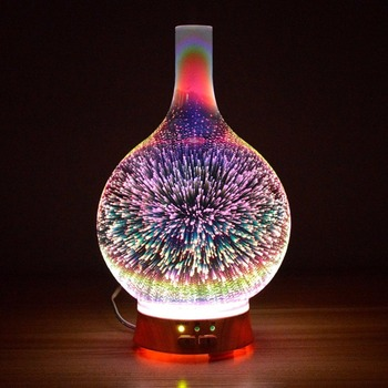 3D Effect Night Light Bedroom Aroma Aromatherapy Furnace Home Lighting Mini Humidifier Sprayer Table Lamp Decor Fixture Light