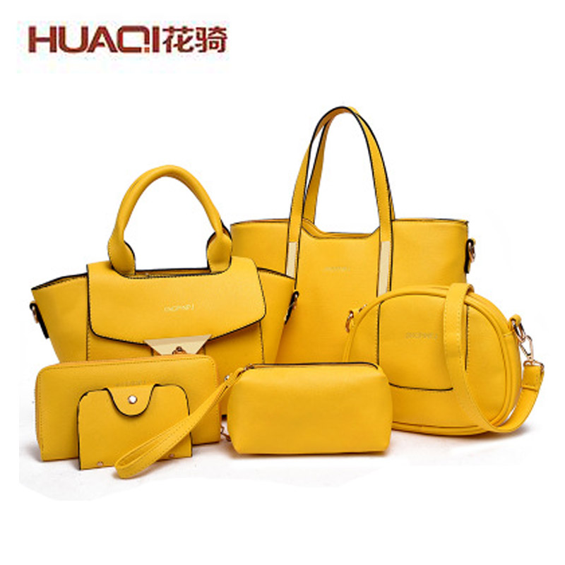 ФОТО Wholesale Cheap Women Bag Sets High Quality PU Leather Big Shoulder Bag Ladies Famous Brand Messenger Bag Female Handbag HQ1085#