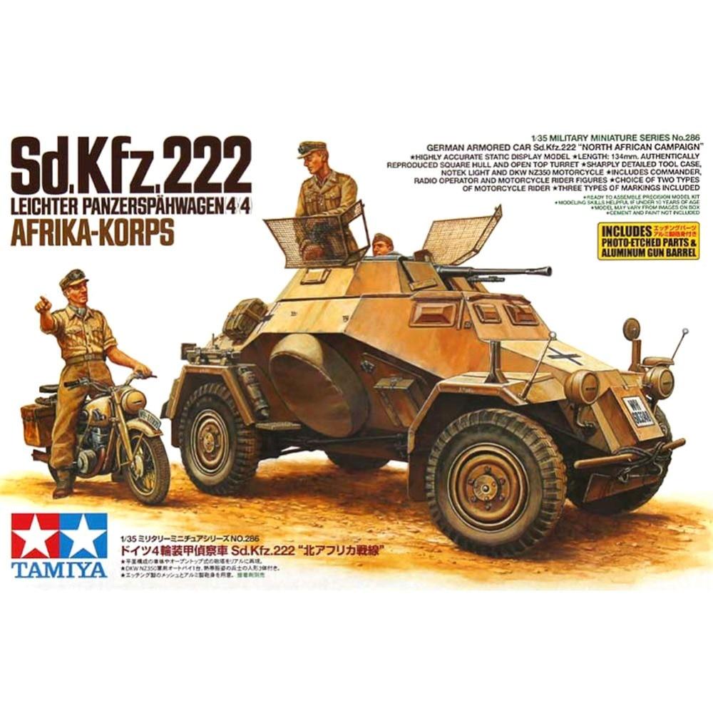 все цены на OHS Tamiya 35286 1/35 North Africa Lighter Panzerwagen 4x4 Sd Kfz 222 Assembly AFV Model Building Kits oh онлайн