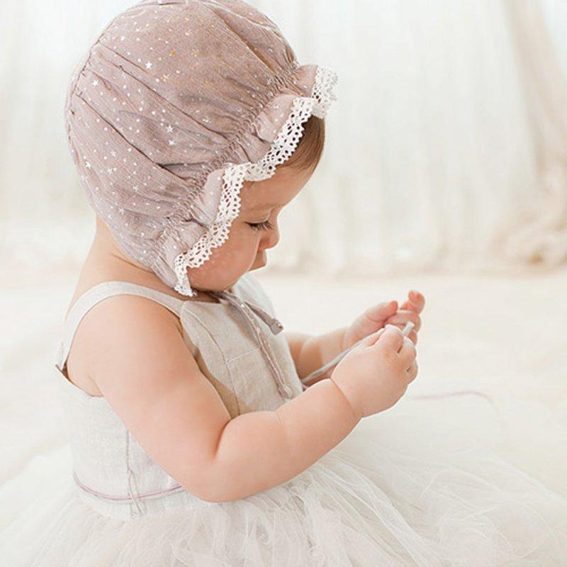 Kids Child Girls Boys Soft Warm Beanie Cap Infant Baby Cotton Star Pattern Cute Hats 0-8M