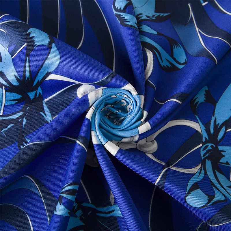 POBING 100% шелковый шарф женские шарфы обертывания квадратный шарф 2017 Испания цепочка шейный платок женский фуляр Шелковый Хиджаб леди бандана