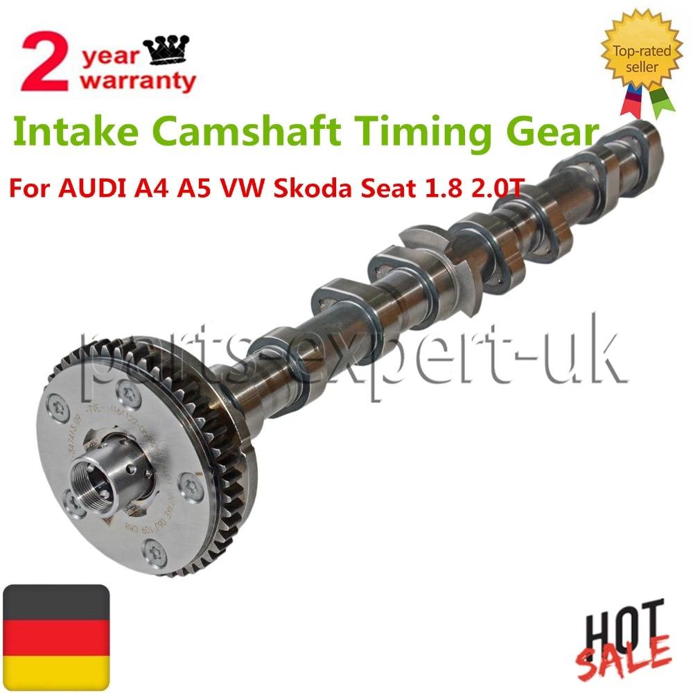Intake Camshaft Timing Gear For VW Beetle Tiguan Audi A3 A4 A5 TT Skoda Seat 1.8 2.0T 2.0 TFSI 06H109021J 06H109088C 06H109021K engine camshaft locking setting timing tool kit for audi a1 a3 a4 a5 a6 tt skoda vw vag 1 6 2 0l tdi st0196