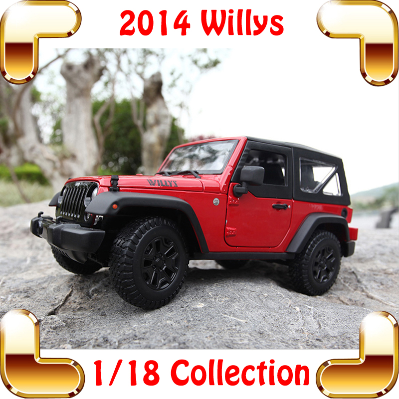 Nieuwjaarsgeschenk Willys 1/18 Big Model Scale Vehicle SUV JEEP Serie Simulation Car So Real Cool Present House Decoration