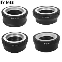 Foleto M42 Lens Adapter Ring M42 Schroef Mount Lens Adapter Voor Sony Nex Fujifilm Fx Sumsung Nx Nikon N1 dslr Camera A7 J1 Nx10