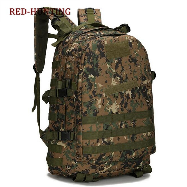 c292a042ac46 Outdoor 40L 600D Waterproof Oxford Cloth Military Rucksack Tactical  Backpack Bag ACU Camouflage Sports Travelling Hiking Bag