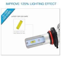 עבור שברולט Bevinsee 1 סט רכב LED ערפל פנסי 9-36V עבור שברולט מפולת 2007 2008 2009 2010 2011 2012 2013 H11 לבן הפנסים (5)