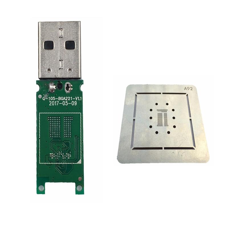 Newest 2pcs/lot EMCP221 Mw6688 Major Controller Usb 2.0 U Disk PCB And EMCP221 Reball Stencil For EMCP BGA 221 Chips DIY U Disk