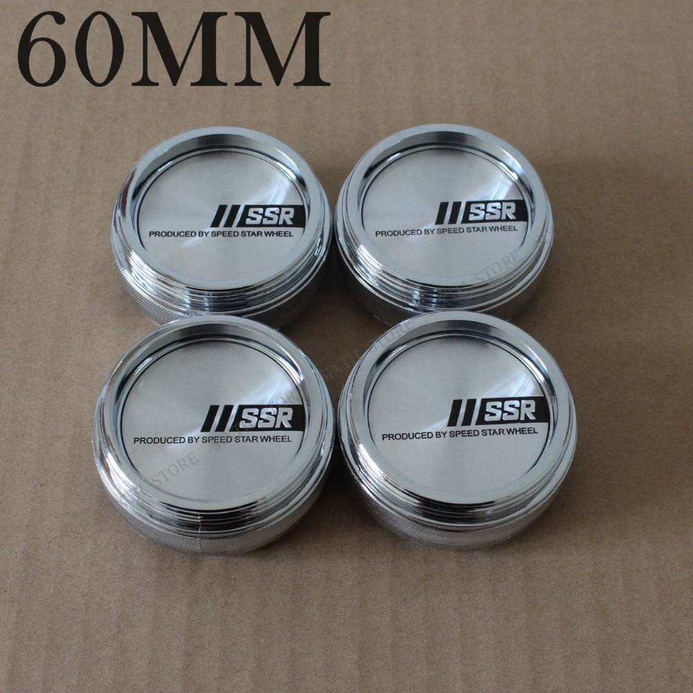 Car Styling Japan Racing SSR Center Cap 60MM Wheel Caps Chrome & Black XXR Logo Sticker Emblem Wheel Cover Cap Hubcaps 4PCS