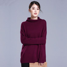 Kashana 100 Cashmere Sweater Loose Winter Women Sweater Thick Pullovers Turn down Collar Long Sleeves Women