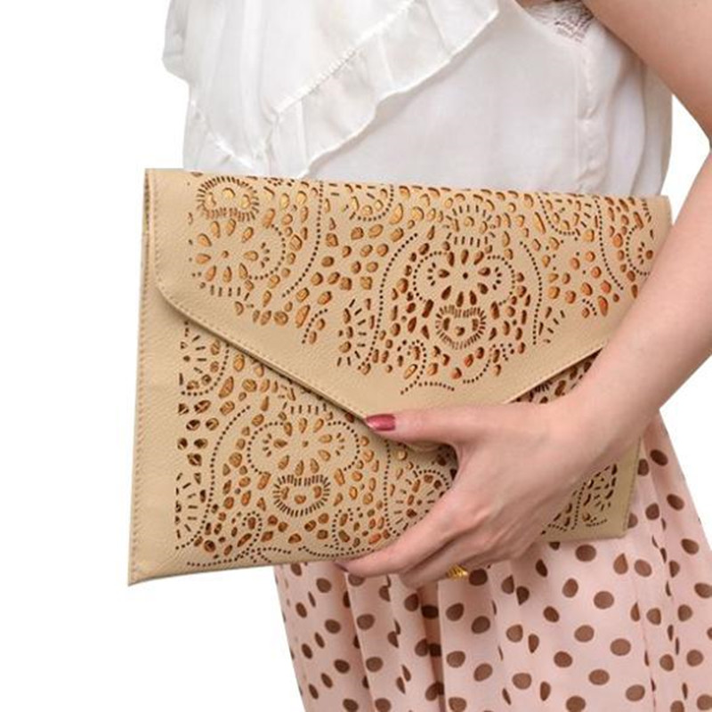 2017 women evening clutch bags yellow purses and handbags vintage chain bag Day clutches women bag female lady envelope clutch