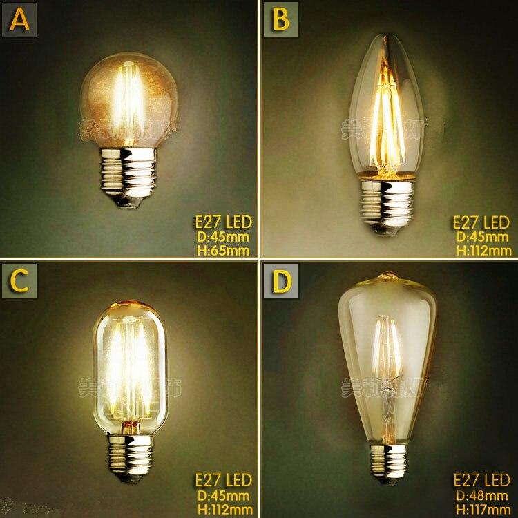 Light Bulbs Dashing 2pcs 2/4w Led Bombilla Edison Bulb Lamp Bombillas Vintage Bulb Light Edison Ampoules Decoratives T45 C35 Harmonious Colors