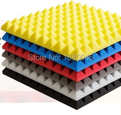 Vysoce kvalitní jakestische panelen akustická pyramidová pěna akustický panel studiová pěna Fast EMS Doprava zdarma 20ks velikost 50 * 50 * 5cm