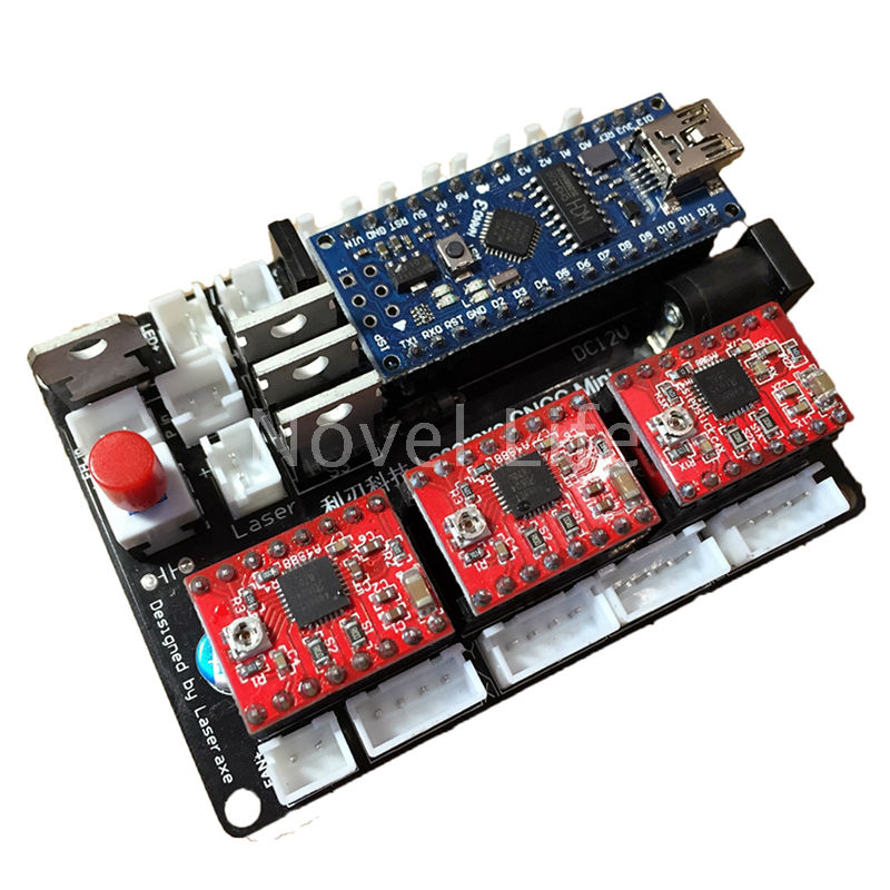 Buy Laseraxe Usb Cnc 3 Axis 2 Phase 4 Wire Stepper Motor Controller Board