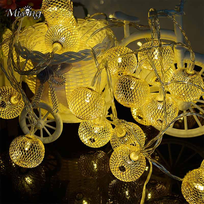 Mising Solar Lights String 20LED Party Decorative Lantern Light Outdoor Waterproof Christmas Garden Flashing Warm White Lamp