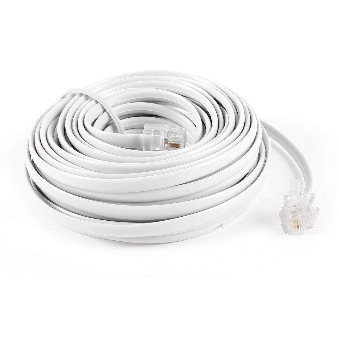 9M 30ft RJ11 6P2C Modular Telephone Phone Cables Wire White9M 30ft RJ11 6P2C Modular Telephone Phone Cables Wire White