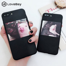 Lovebay Silicone Cute Pig Case For iPhone X XR XS Max 6 6s 7 8 Plus 5 5s SE Phone Cases Soft TPU Back Cover For iPhone 7 Coque(China)